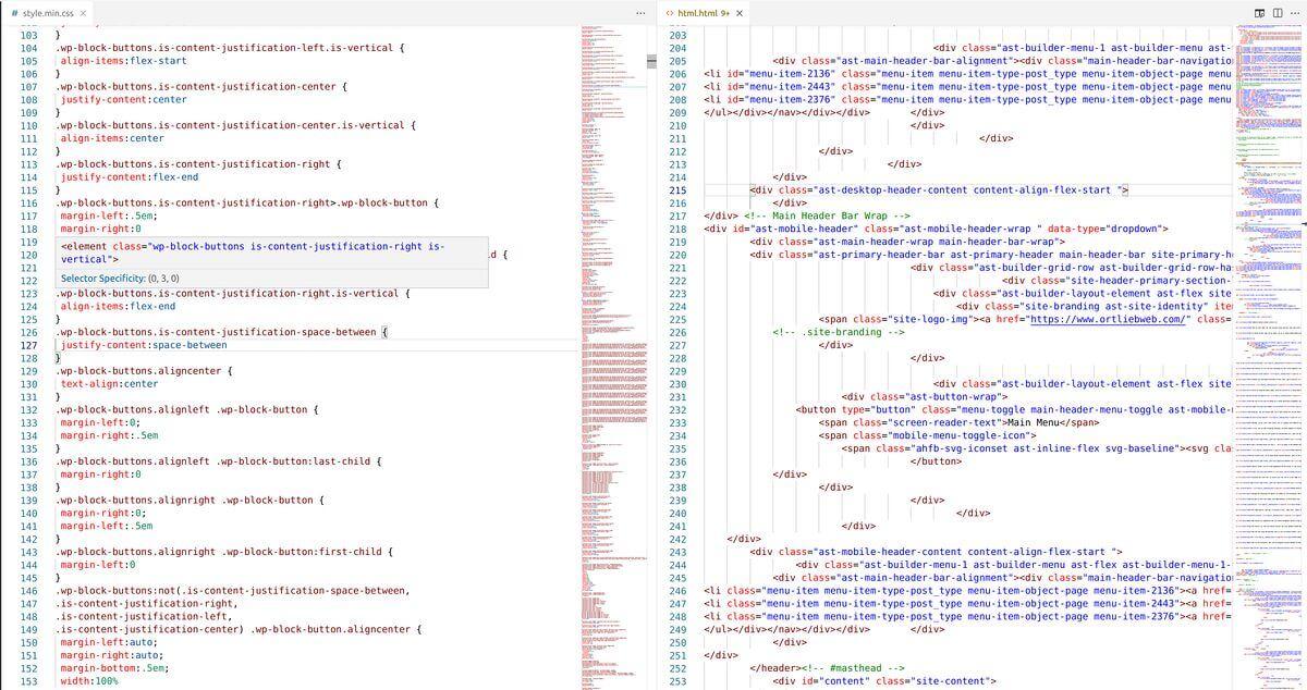 HTML und CSS Code beispiel